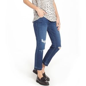 Current/Elliot Cropped Straight Released Hem Jeans